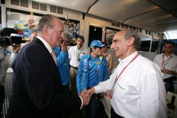 Le roi d'Espagne Juan Carlos et Alain Dassas