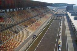 Ligne droite des stands au circuit international de Shanghai