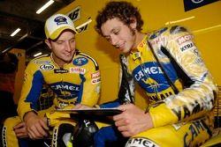 Colin Edwards et Valentino Rossi