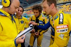 Valentino Rossi et Colin Edwards