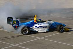 Race winner Andreas Wirth celebrates