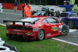 Accident au départ: #84 Team Icer Brakes Ferrari F430 GT: Jesus Diez Villarroel