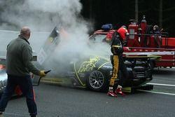 Accident au départ: #51 B-Racing RS Line Team Lamborghini Murcielago GTR: Benjamin Leuenberger, Norbert Walchhofer, Marino Franchitti