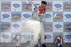 LMP1 podium: Rinaldo Capello sprays champagne