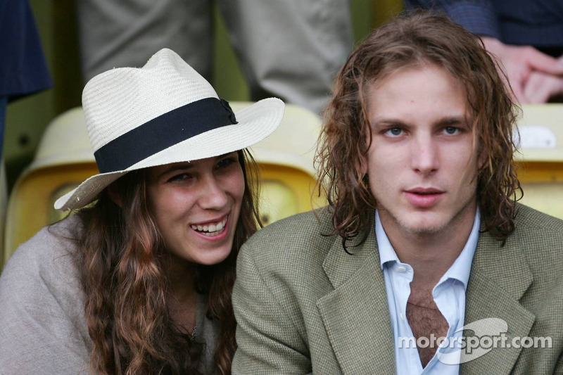 Match de football de charité: Andrea Casiraghi, le fils de la princesse Caroline et le neveu du Prince Albert II de Monaco, avec sa petite amie, l'héritière Tatiana Santo Domingo