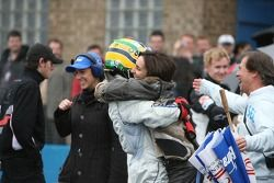 Bruno Senna with his mother