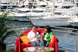 David Coulthard donne une interview à Tanja Bauer