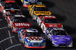 Start of the second segment: Mark Martin and Ryan Newman lead the field
