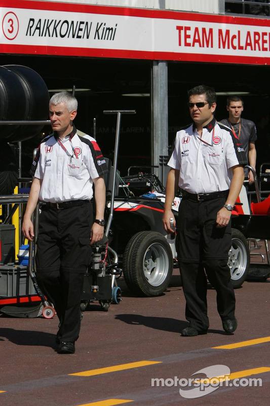 Geoff Willis et Gil de Ferran