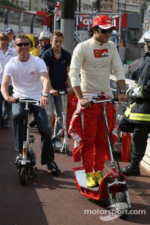 Felipe Massa, David Coulthard et Christian Klien