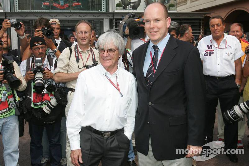 Bernie Ecclestone et le Prince Albert II de Monaco