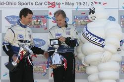 LMP1 podium: second place James Weaver and Butch Leitzinger