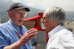 John Surtees talks with Bernie Ecclestone