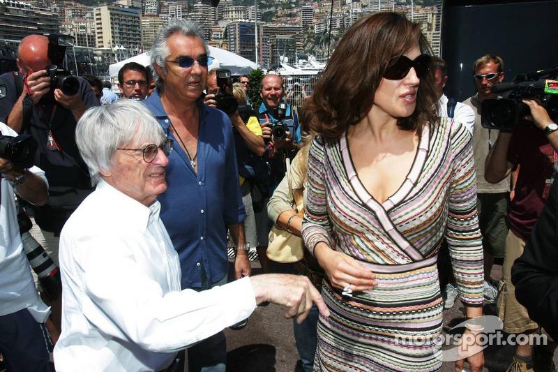Bernie Ecclestone, Flavio Briatore et Slavica Ecclestone