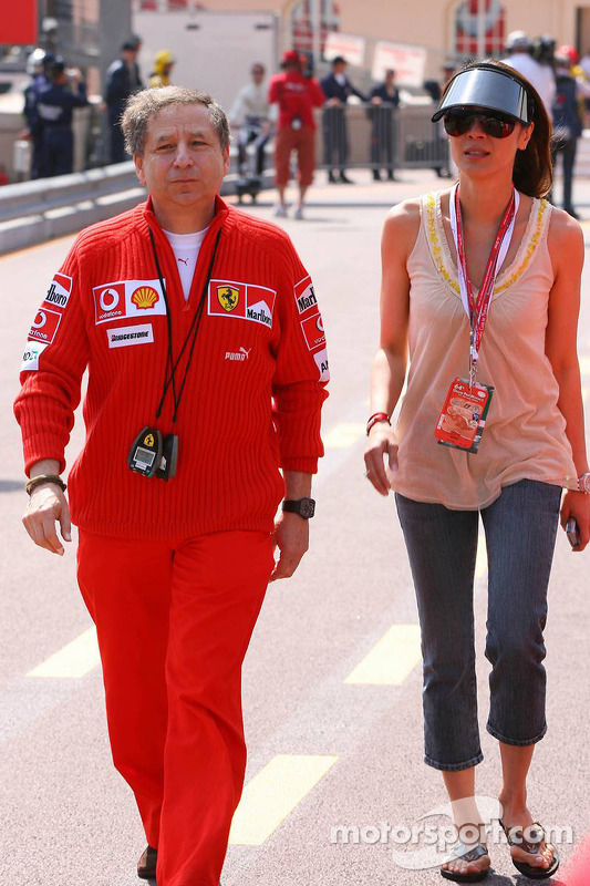 Jean Todt with his girlfriend Michelle Yeoh at Monaco GP