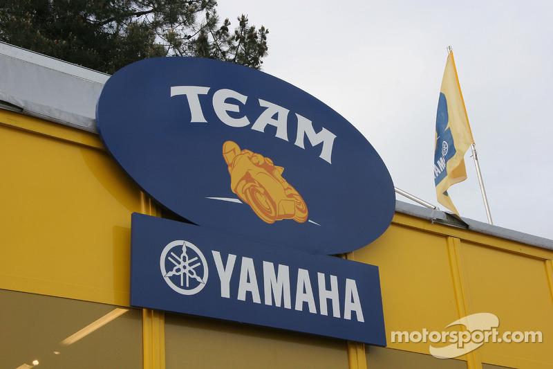 La zone d'hospitalité de Yamaha Factory
