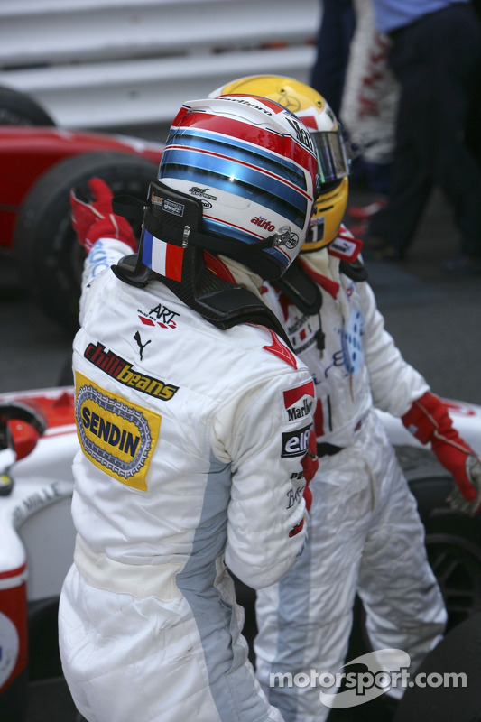 Третье место - Александр Према и первое место - Льюис Хэмилтон