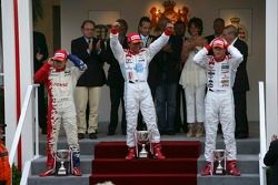 Lewis Hamilton 1st, Franck Perera 2nd and Alexandre Premat 3rd