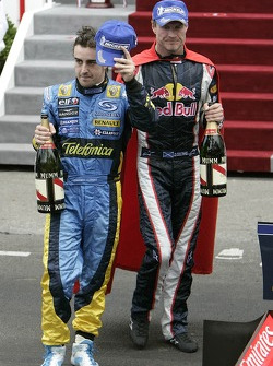 Fernando Alonso and David Coulthard