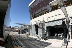 Pitlane setup at Audi Sport Team Joest