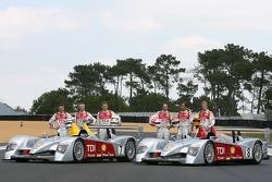 Séance photos de Audi Sport Team Joest: Allan McNish, Rinaldo Capello, Tom Kristensen, Marco Werner,