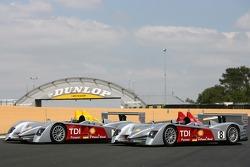 Séance photos de Audi Sport Team Joest: les deux Audi Sport Team Joest Audi R10 cars
