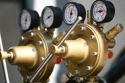 Detail of airgas tanks