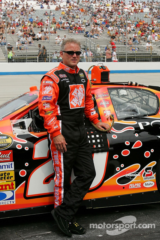 Ricky Rudd Poses With The 20 Home Depot Chevy At Dover