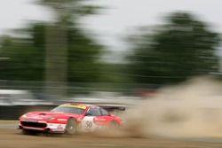 #50 Larbre Competition Ferrari 550 Maranello: Gabriele Gardel, Jean-Luc Blanchemain, Patrick Bornhauser in trouble