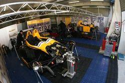 Chamberlain - Synergy Motorsport garage area