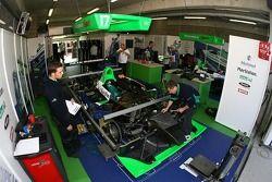 Pescarolo Sport garage area
