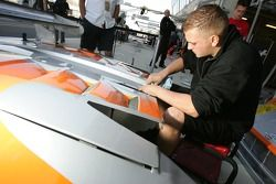 Spyker Squadron team member at work