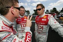 Audi Sport Team Joest photoshoot: Allan McNish, Rinaldo Capello and Tom Kristensen