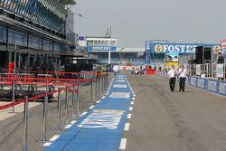 Silverstone paddock