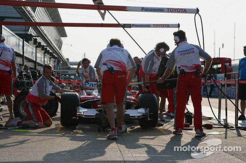 L'équipe Toyota en préparations