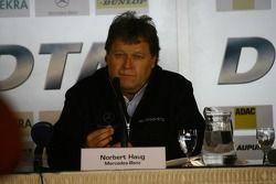 Press conference: Norbert Haug