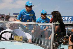 Giancarlo Fisichella y Fernando Alonso