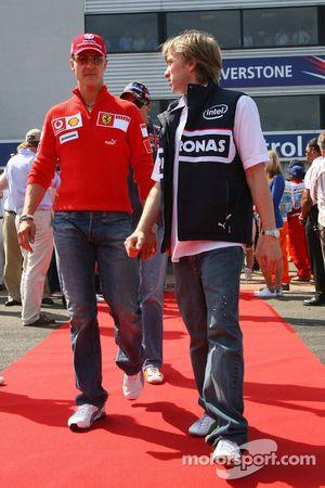 Michael Schumacher and Nick Heidfeld
