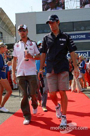 Jenson Button and Mark Webber