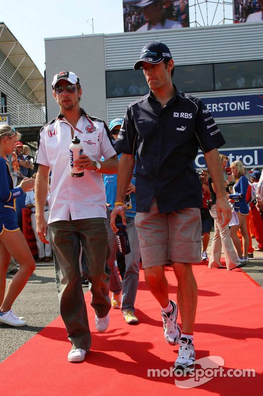 Jenson Button y Mark Webber