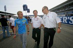 Bruno Michel, Heikki Kovalainen, Christian Horner