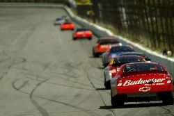 Dale Earnhardt Jr. follows the lead group