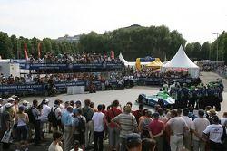 Fans watch Pescarolo Sport photoshoot