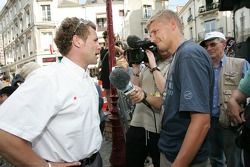 Unveiling of the 2005 24 Hours of Le Mans winners plaque: interviews for Tom Kristensen