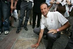 Unveiling of the 2005 24 Hours of Le Mans winners plaque: Marco Werner