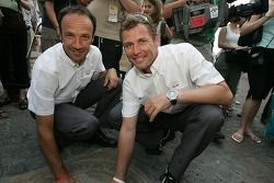 Unveiling of the 2005 24 Hours of Le Mans winners plaque: Marco Werner and Tom Kristensen