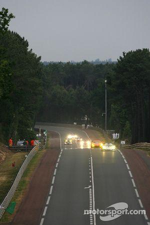 #2 Zytek Engineering Zytek 06S: John Nielsen, Casper Elgaard, Philip Andersen, #90 White Lightning Racing Porsche 911 GT3 RSR: Jorg Bergmeister, Tracy Krohn, Nic Jonsson