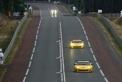 #64 Corvette Racing Corvette C6-R: Oliver Gavin, Olivier Beretta, Jan Magnussen, #63 Corvette Racing