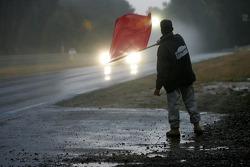 Un drapeau rouge met fin à la séance