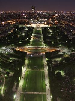 La vue depuis la Tour Eiffel